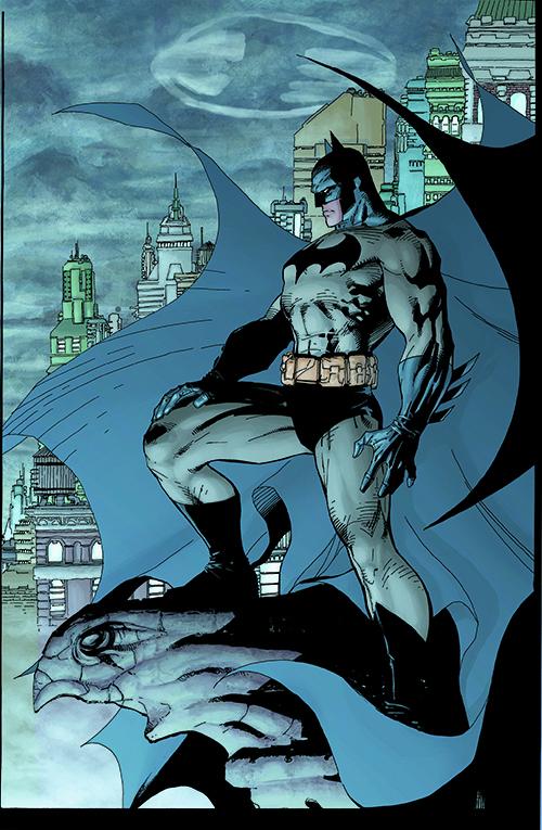 Batman animation overlooking city
