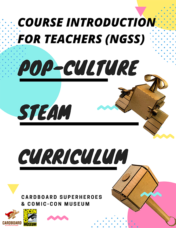 Pop-Culture STEAM Curriculum guide 1st page
