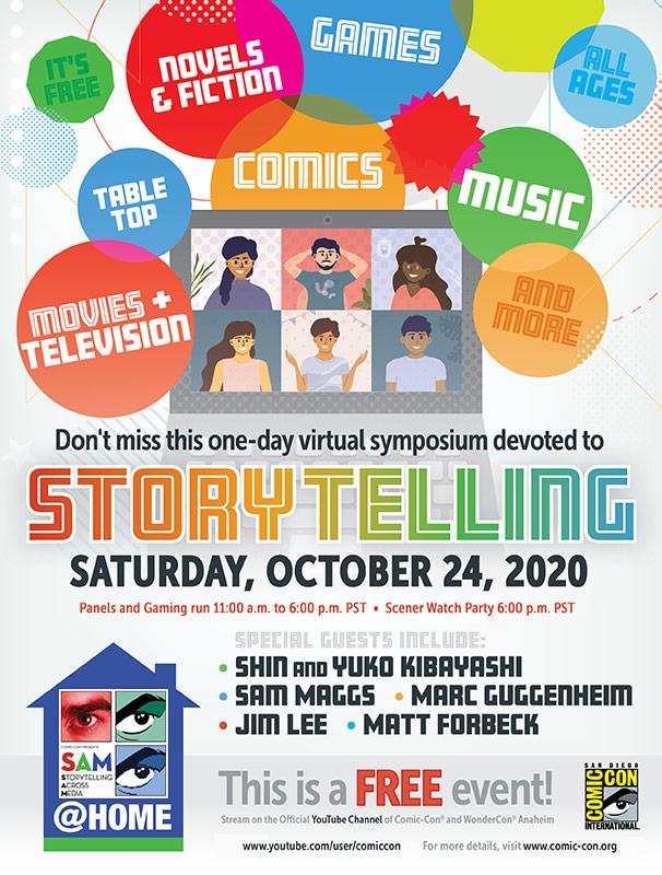 Comic-Con Presents SAM@HOME 2020, Saturday, October 24