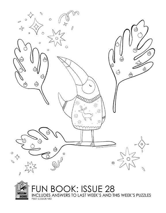 Comic-Con Museum@Home Fun Book #28: @Home for the Holidays