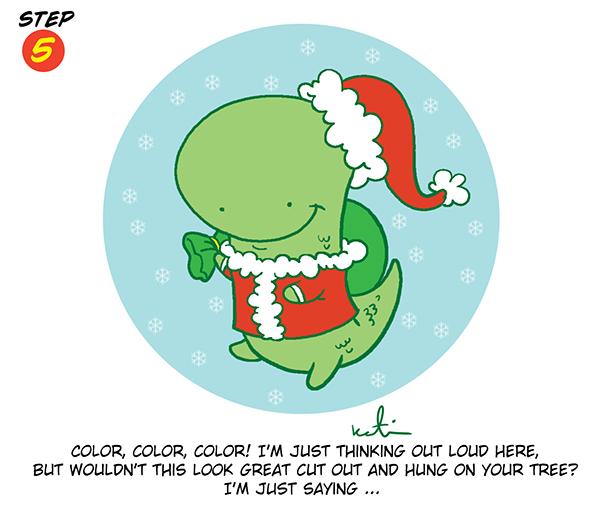 Holiday Dinosaur Step 5