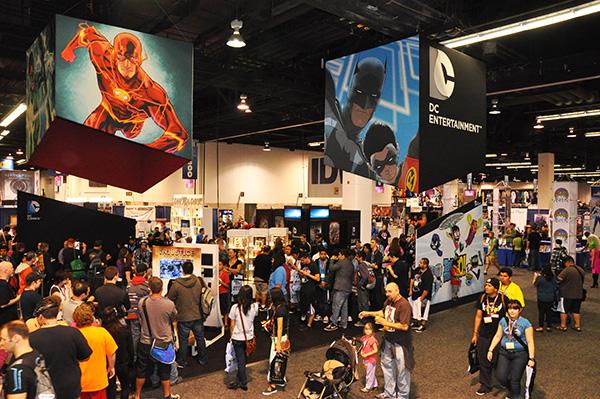 DC Entertainment Booth at WonderCon Anaheim
