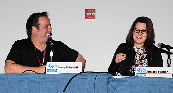 Jimmy Palmiotti and Amanda Conner at WonderCon Anaheim
