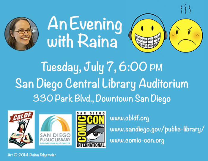 An Evening with Raina at the San Diego Central Library