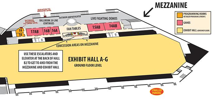 CCI 2013 Mezzanine Map
