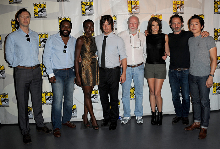 The Walking Dead cast at Comic-Con International 2013
