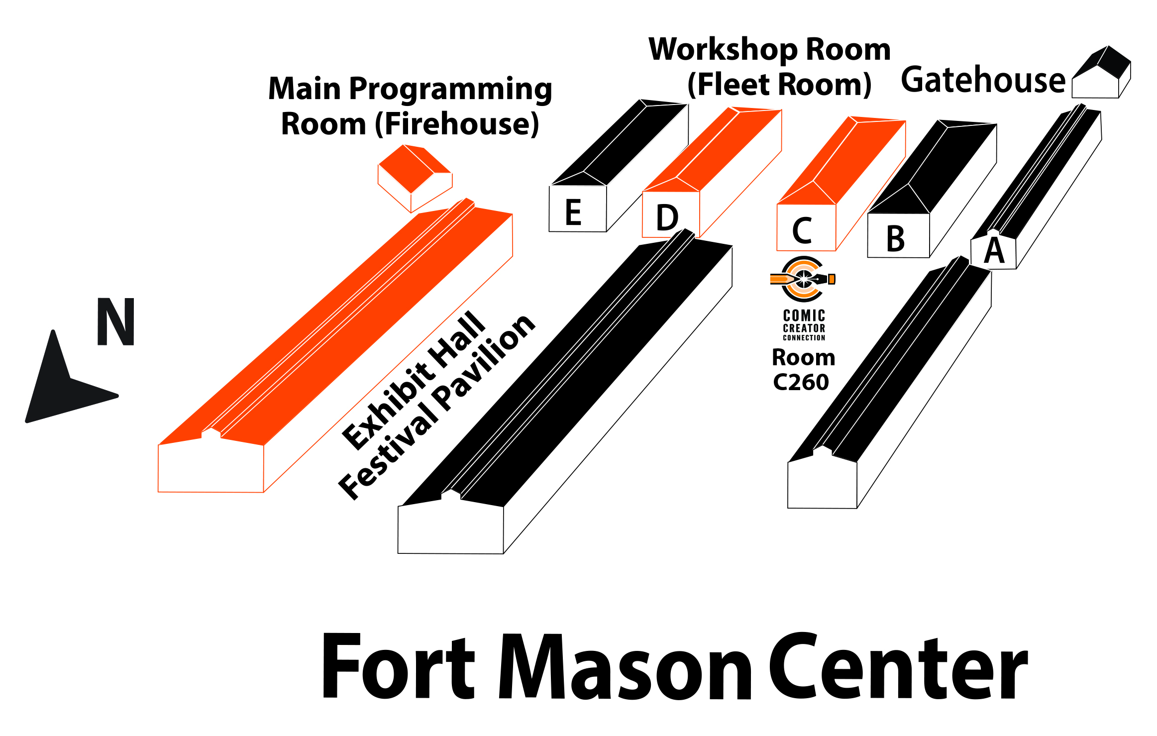 APE 2014 Fort Mason Campus Map, click to enlarge