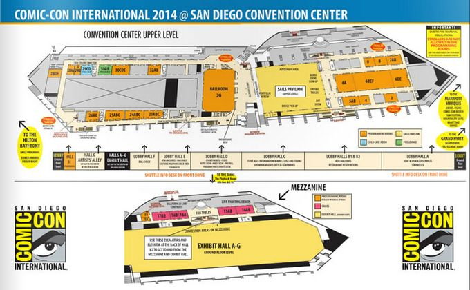 Comic-Con 2014 Convention Center Map