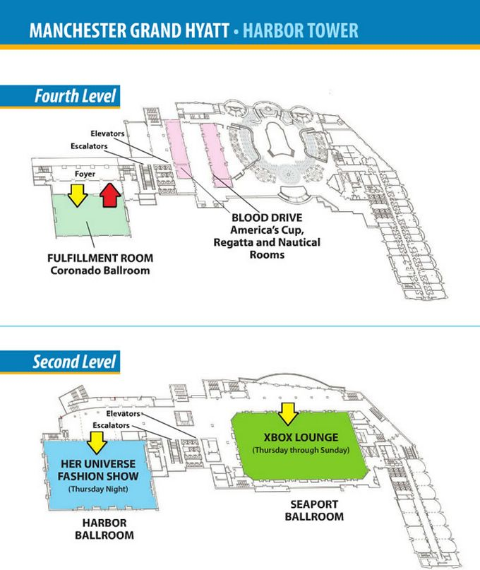 Comic-Con 2014 Manchester Grand Hyatt Map
