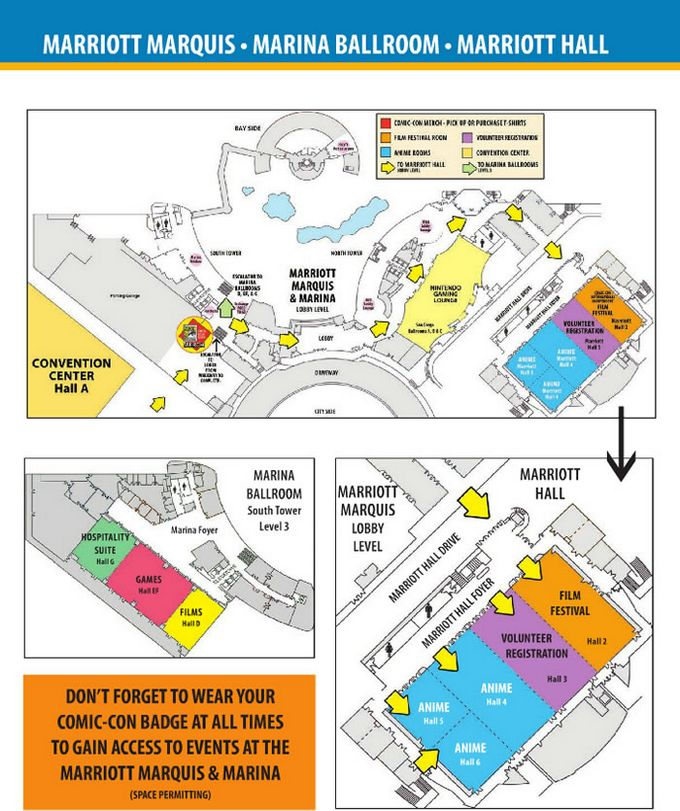 Comic-Con 2014 Marriott Marquis Map
