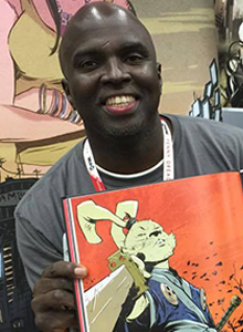 Sanford Greene at WonderCon Anaheim 2017, March 31–April 2 at the Anaheim Convention Center