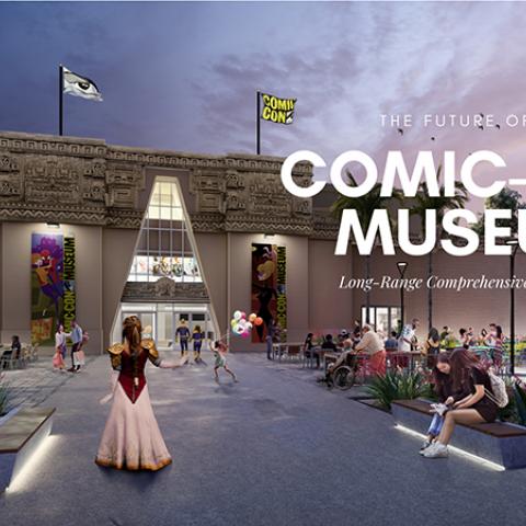 Museum front artist render
