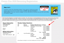 Comic-Con Returning Registration