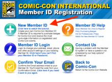 Comic-Con Registration Update