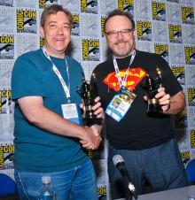 Comic-Con 2013 Inkpot Award winners Dan Jurgens and Jon Bogdanove