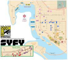 Comic-Con 2018 Free Shuttle Service Map