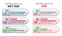 Professional Verification Status Flags