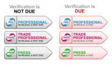 Professional Verification Status Flags