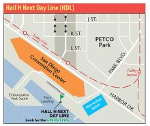Hall H Next Day Line Map