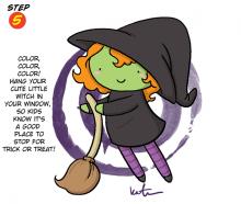 Halloween Witch Step 5