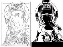 Daredevil #25 Layout and Final Inked Cover