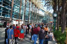 Outside at WonderCon Anaheim