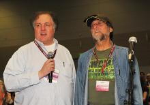 Mark Evanier and Len Wein at the Quick Draw panel at WonderCon Anaheim