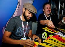 Rob Guillory and John Layman at Comic-Con International 2013