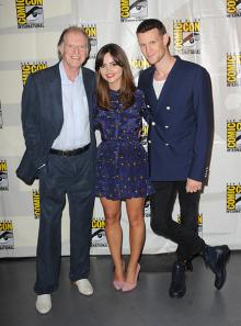 David Bradley, Jenna Coleman, and Matt Smith at Comic-Con International 2013