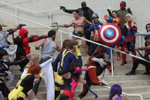 Marvel cosplayers at Comic-Con International 2013