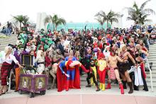 DC Comics cosplayers at Comic-Con International 2013