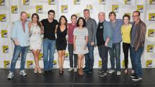 Agents of S.H.I.E.L.D. cast backstage at Comic-Con International 2013