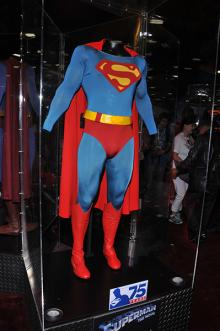 Superman costume display at Comic-Con International 2013