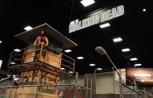 The Walking Dead booth at Comic-Con International 2013