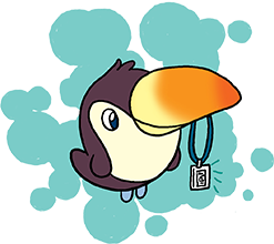 Katie Cook: A Toucan with His New SDCC RFID Badge