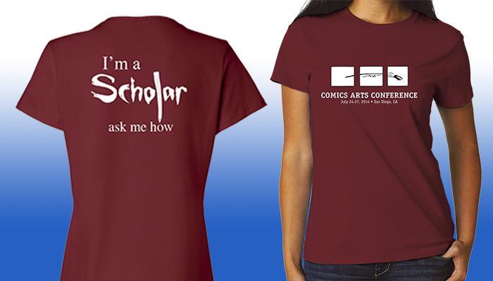Comic-Con International 2014 Comics Arts Conference T-Shirt