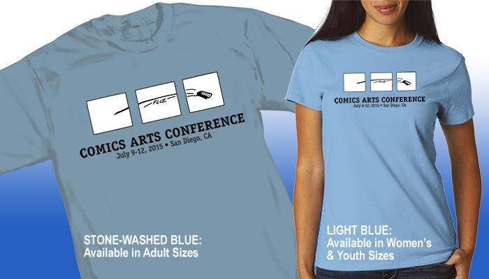 Comics Arts Conference 2015 T-shirt