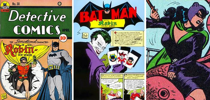 Robin, The Joker, and Catwoman 75th Anniversary