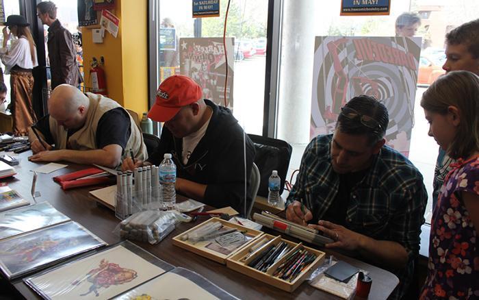Creators at Free Comic Book Day