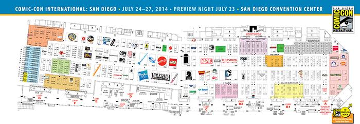 Comic-Con International 2014 Exhibit Hall Map