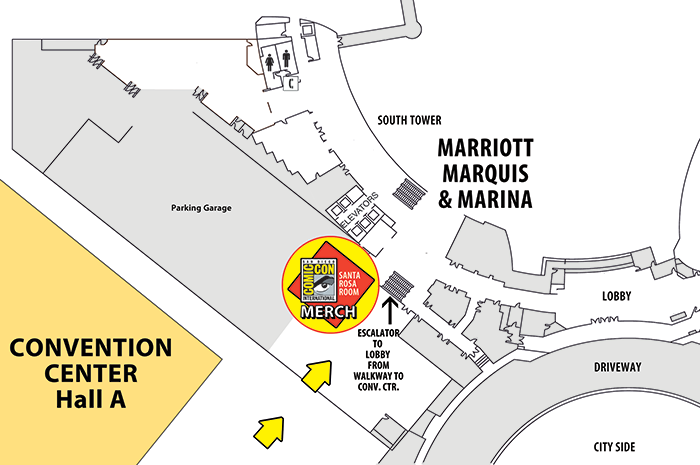 Comic-Con Merch room map