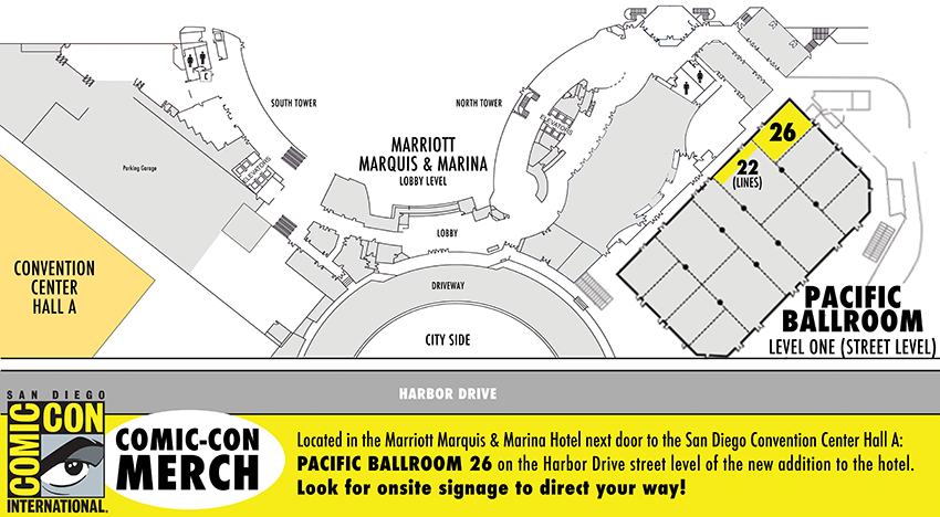 Comic-Con Merch New Location