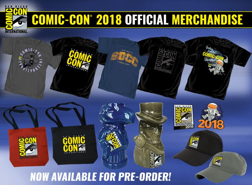 Comic-Con 2018 Official T-shirts and Merchandise