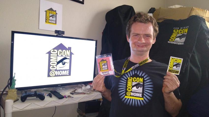 Comic-Con@Home Fan Jeremy Schultz. Photo: Jeremy Schultz