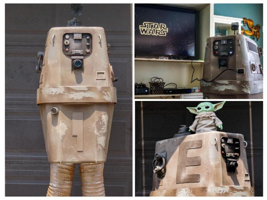 """""""Gonk (gonk guh gonk gonk gonk)"""" a fun re-created screen-accurate Star Wars GNK power droid with moving parts, constructed by Kaiweevil"""