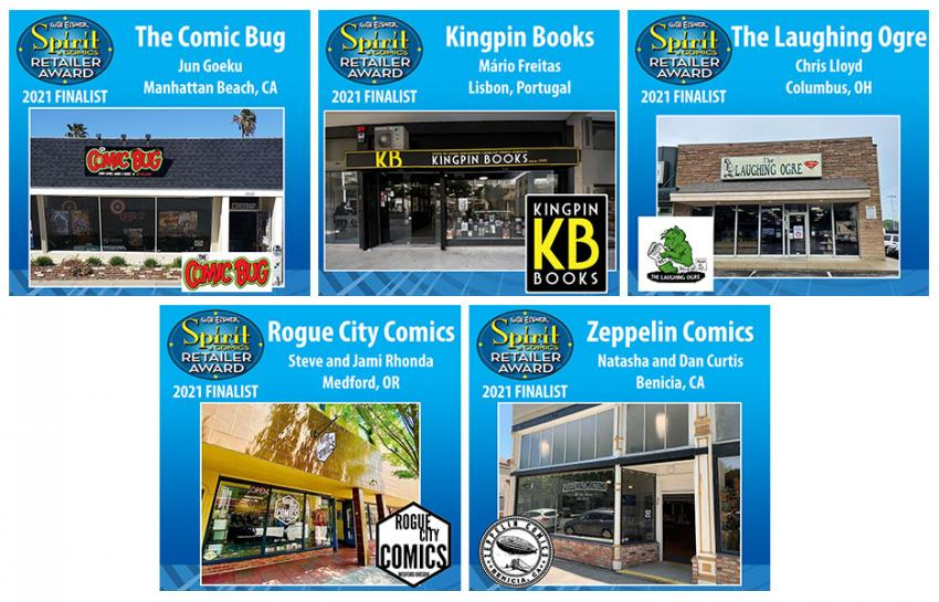 Will Eisner Spirit of Comics Retailer Award 2021 Finalists