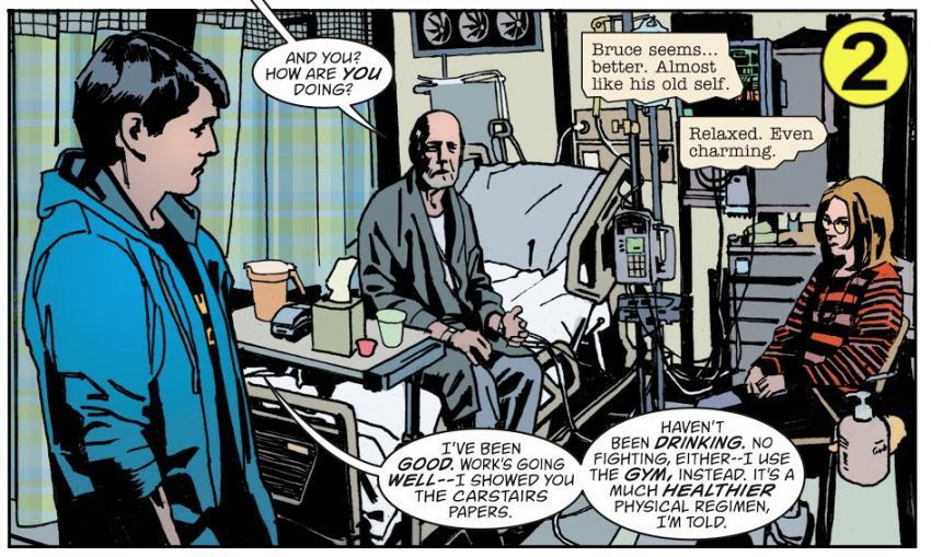 Hospital scene from Batman Creature Of The Night book 4, copyright 2019 DC Comics