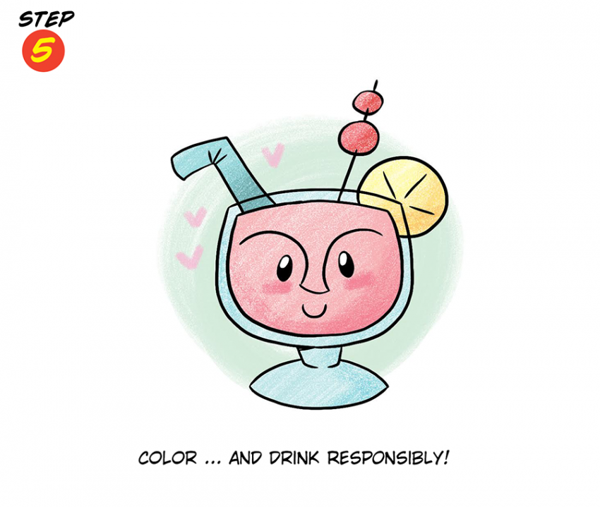 Katie Cook: How to Draw a Tiki Drink