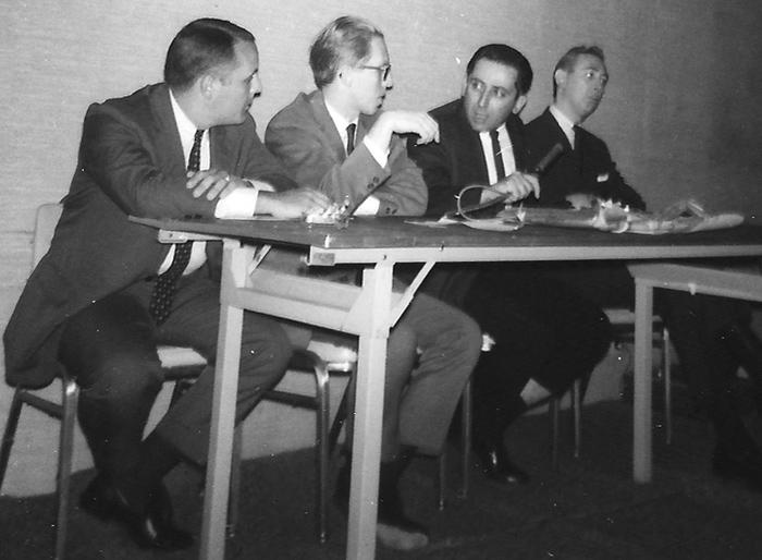 Bob Harris, Roy Thomas, Maurice Horn, and Gil Kane