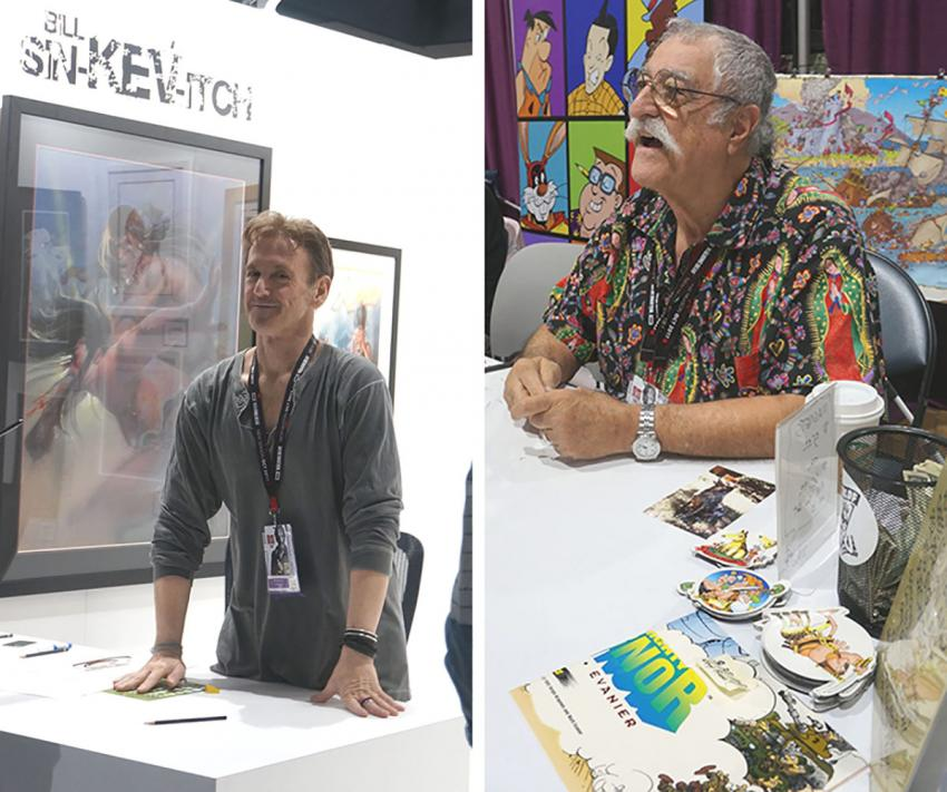 Bill Sienkiewicz and Sergio Aragonés at Comic-Con International 2017
